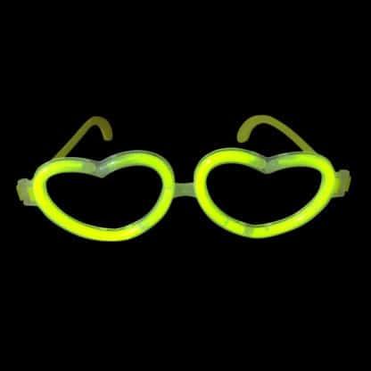 Glow in the Dark Glow Stick Heart Shape Glasses
