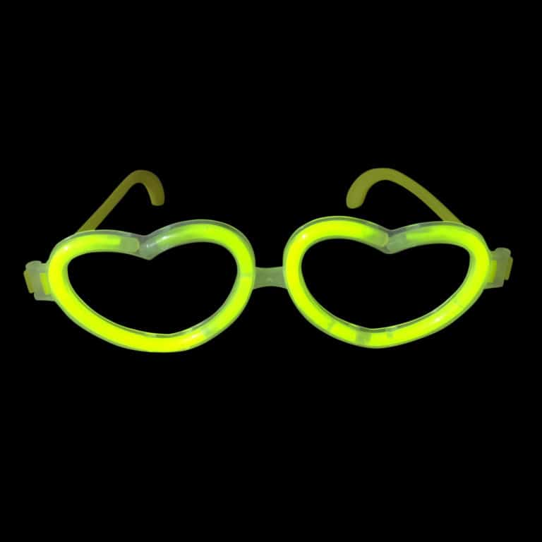 Glow in the Dark Glow Stick Heart Shape Glasses