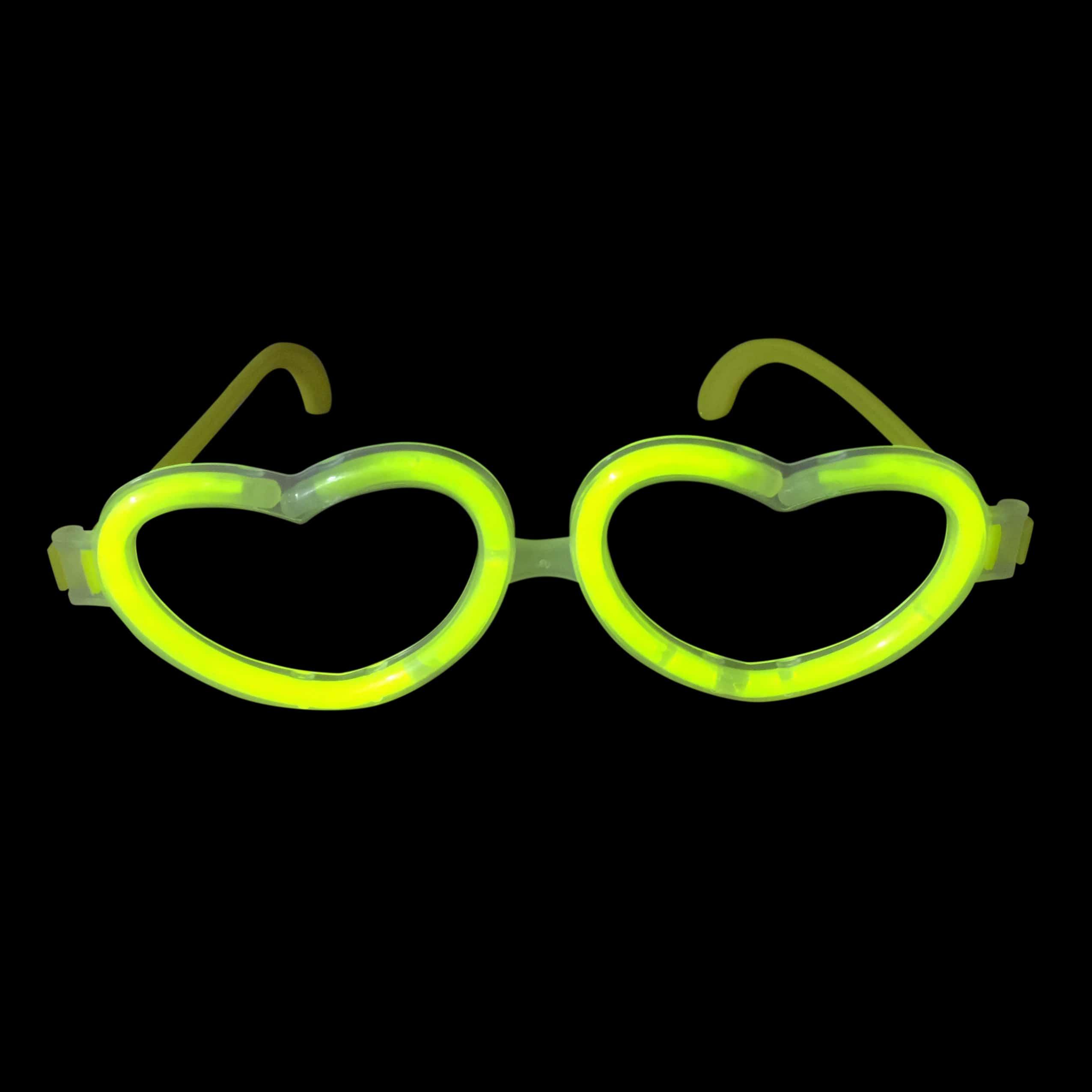 3d3ac4d3d71 Glow in the Dark Glow Stick Heart Shape Glasses