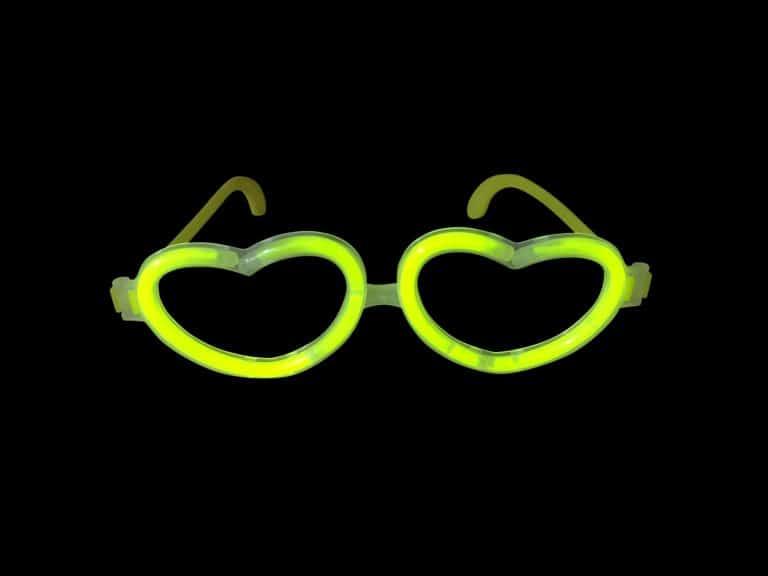 glow in the dark heart glasses