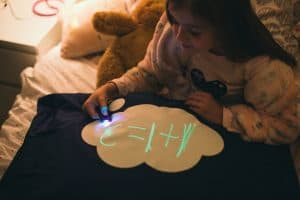 Glow in the dark pillow case