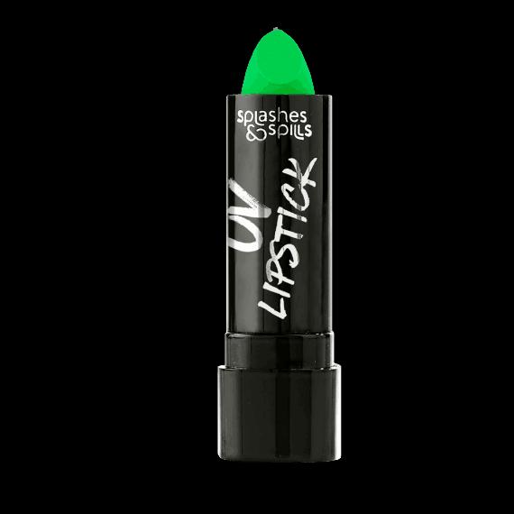 Splashes and Spills UV Green Lipstick