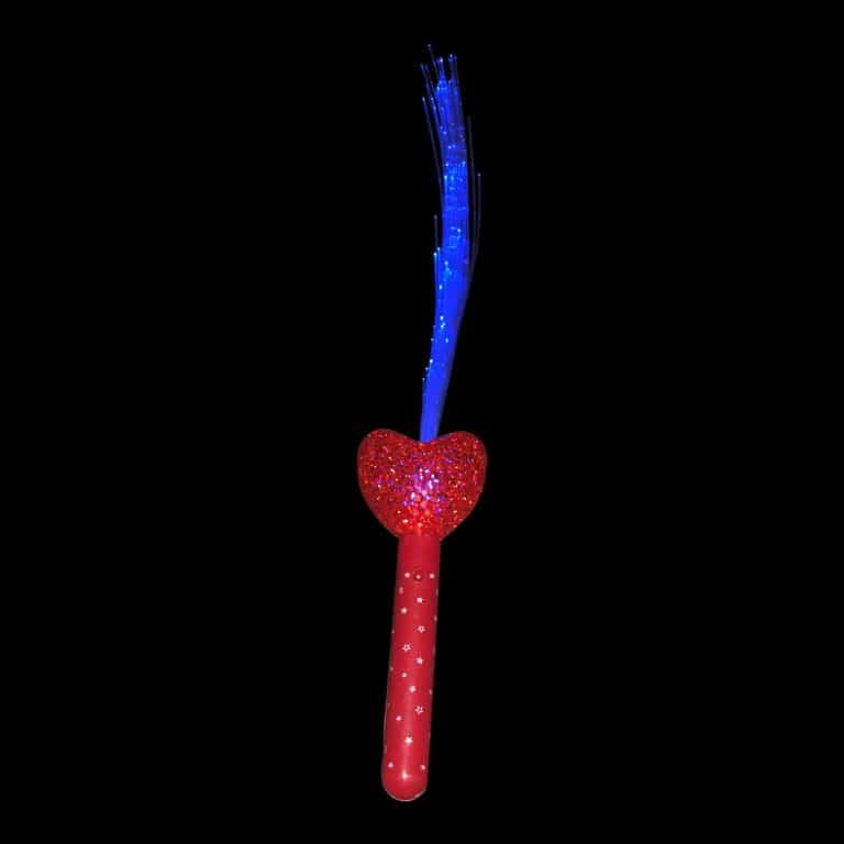 Light Up Heart Handle Fibre Optic Wand