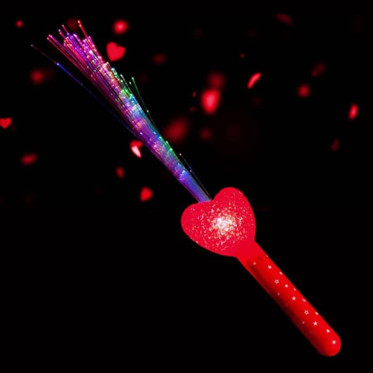 Light Up Fibre Optic Heart Wand