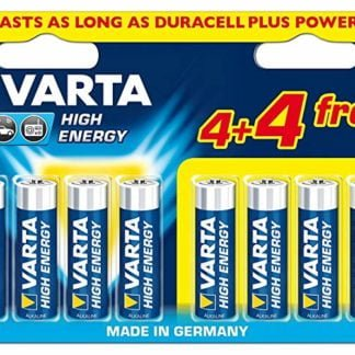Varta AA Batteries pack of 8 lasts as long as Duracel
