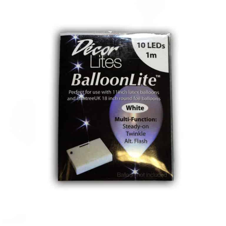 String LED Lights for balloons White