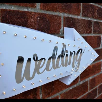 Light Up LED Arrow Wedding Sign
