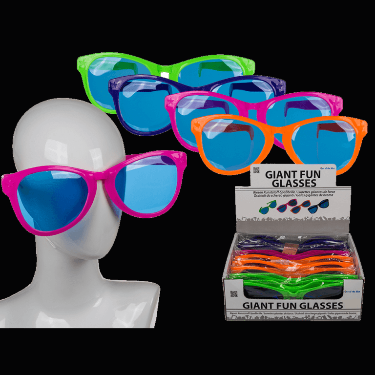 Neon Giant Plastic Sunglasses Party Prop