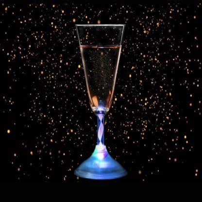Glowing Champagne Glass