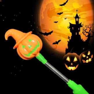 Halloween LED Light Up Pumpkin Spooky Wand orange