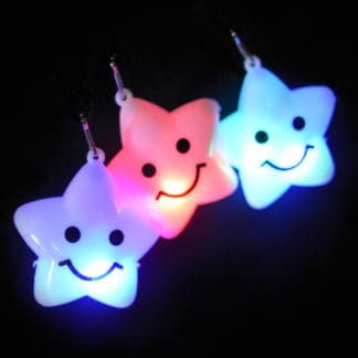 Glow in the Dark Light Up LED Star Necklaces