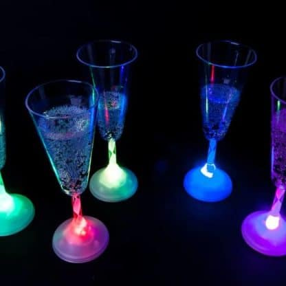 Glow in the Dark LED Champagne Glass