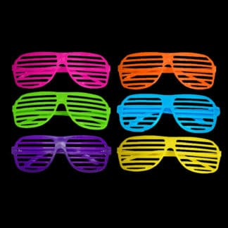 Bright Neon Shutter Shade Glasses