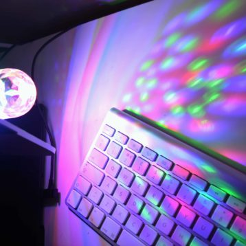 Multicoloured Disco LED Rotating Party Light