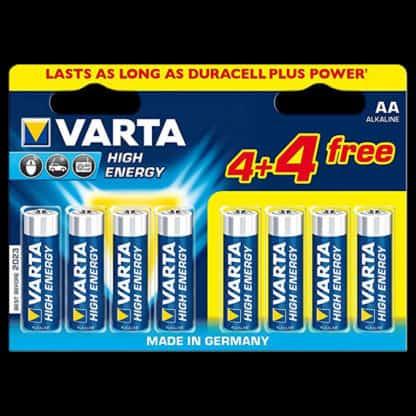 8 pack of Varta AA Batteries