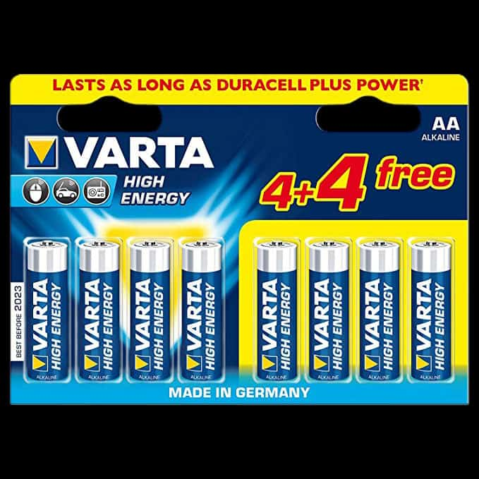 varta aa batteries x8 pack glowtopia. Black Bedroom Furniture Sets. Home Design Ideas
