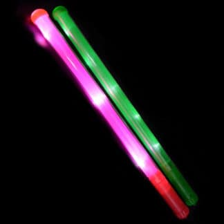 Green and Pink LED Baton Sticks 46cm
