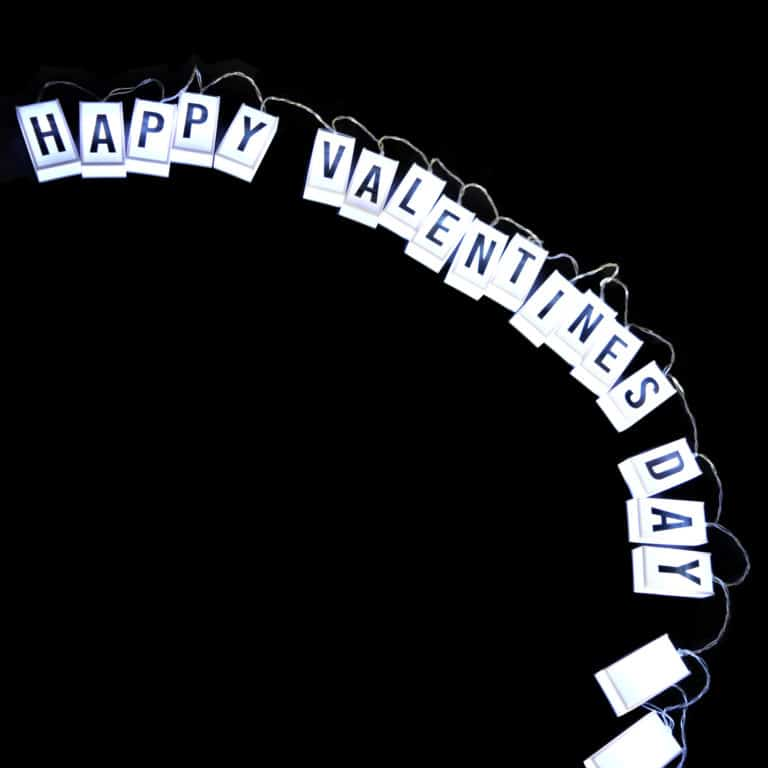 Valentine message personalised light up letter chain