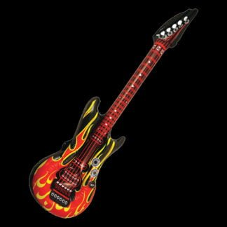 Red Flames Inflatable Guitar