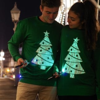 Glow in the Dark Christmas Tree Jumper