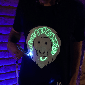 Interactive Glow Lion T-Shirt