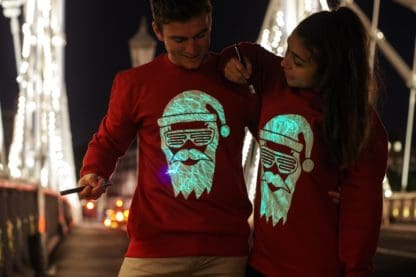 Glow in the Dark Father Christmas Jumper