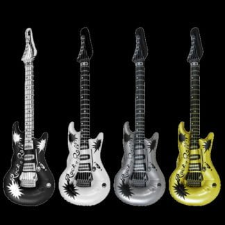 Black White Gold Silver Inflatable Guitar