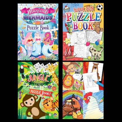 Mini Puzzle and Colouring Books