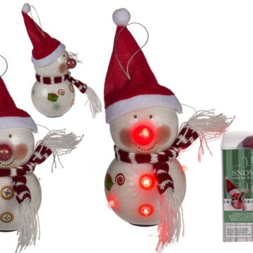Flashing Snowman Hanging Decoration