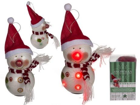 Flashing Snowman Hanging Decoration