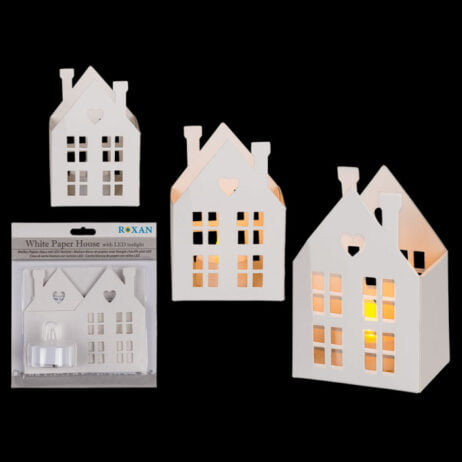 Christmas Paper House Decoration Light Up