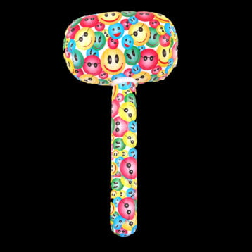 Inflatable Mallet with Smiley Faces